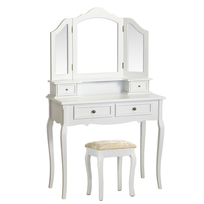 Elegant White Dressing Table Chic Dresser Set Vanity Makeup Table